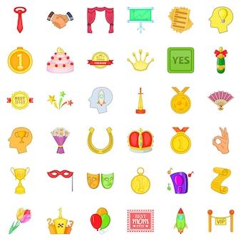 Набор хороших трофейных иконок в мультяшном стиле