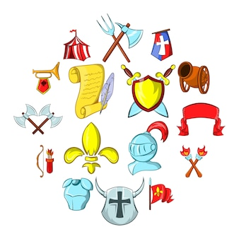 Набор иконок средневековья