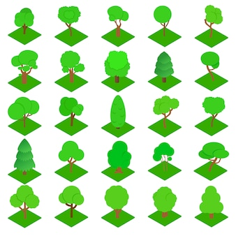 Набор иконок древесины