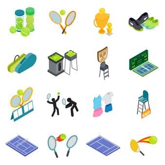 Теннисный набор иконок