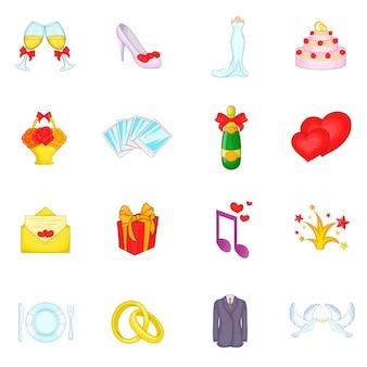 Набор свадебных иконок