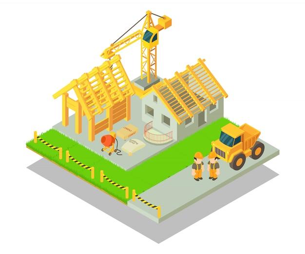 Сцена концепции строительства