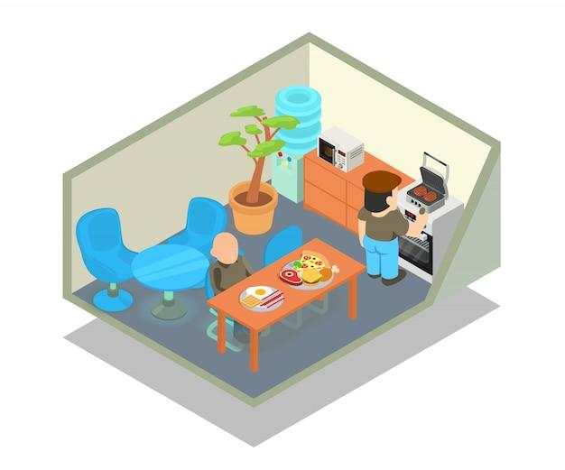 食堂のコンセプトシーン