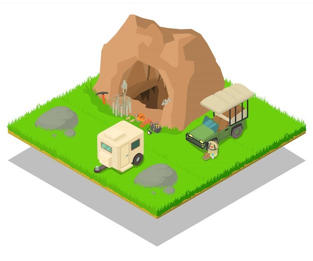 Исследование концепции пещерной сцены