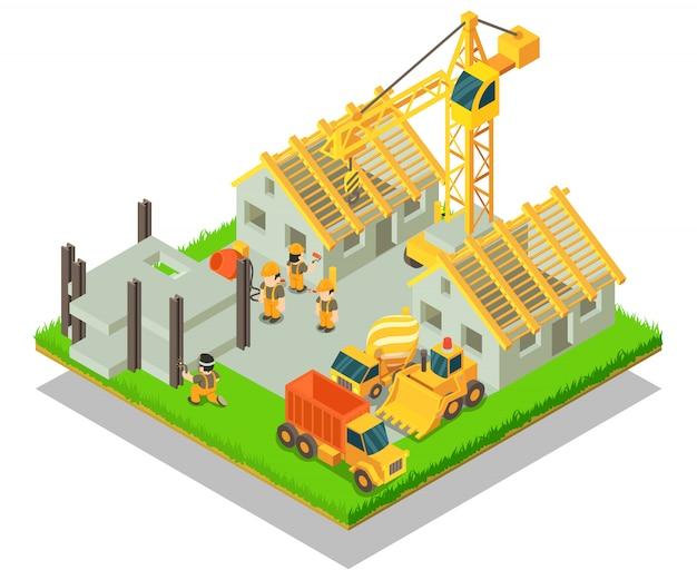 Концептуальная сцена поселка