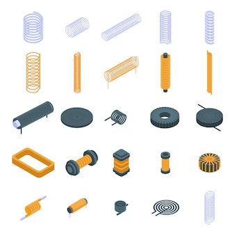 コイルのアイコンセット、アイソメ図スタイル