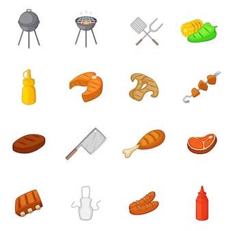 Набор иконок для барбекю