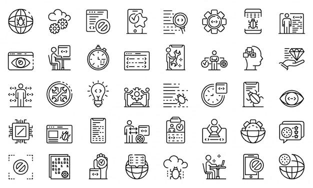 Набор значков для тестирования программного обеспечения