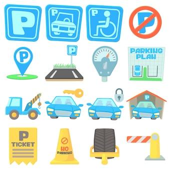 Набор иконок парковки