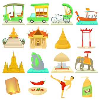 タイ旅行のアイコンを設定