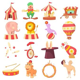 Набор иконок цирка