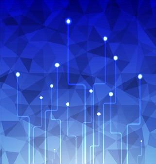 技術青いポリゴンの背景。