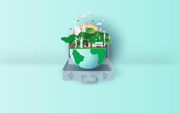 Экология окружающая среда в концепции чемодана