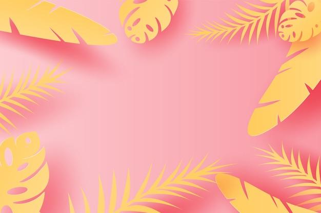 夏の熱帯の葉のヤシの装飾