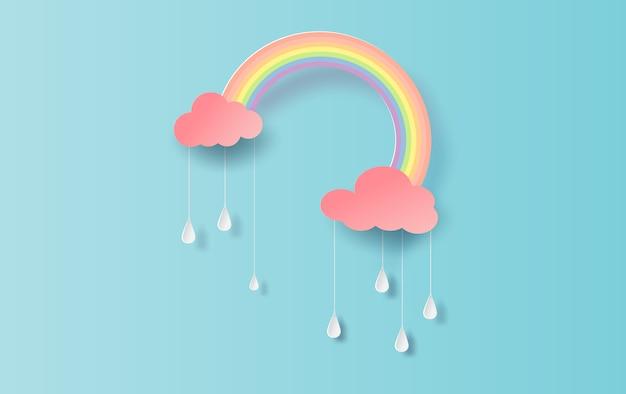 梅雨の中の虹。
