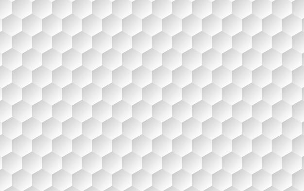 抽象的な白い表面の六角形