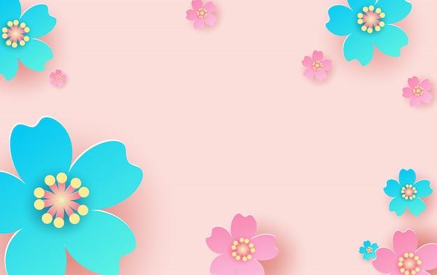 花の背景のイラスト。