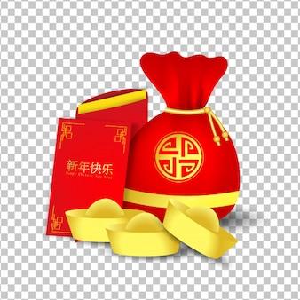 赤い袋と旧正月の赤いパケット