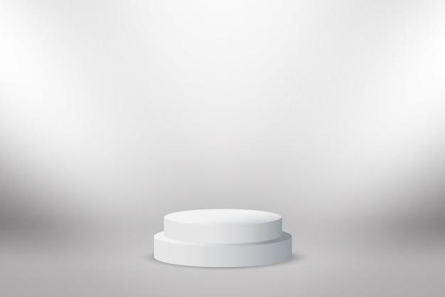 Абстрактный фон стенд круг серый фон.