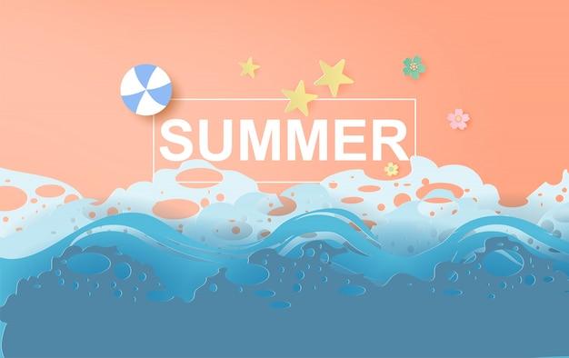 Красивый летний пляж фон