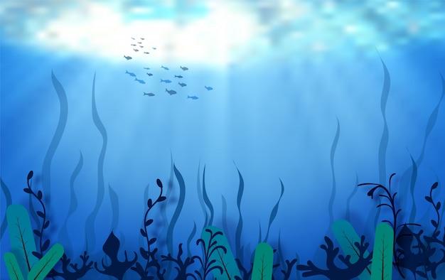 世界海洋デーの水の概念をドロップします。