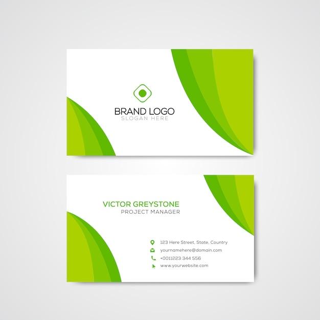 Зеленая элегантная корпоративная визитная карточка
