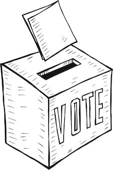 投票用紙の落書き