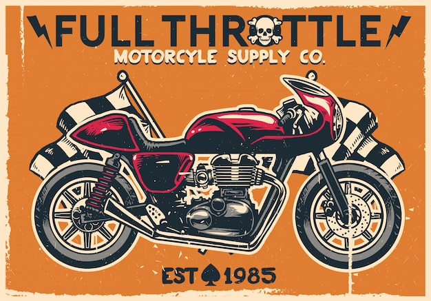 Урожай кафе гонщик мотоцикл