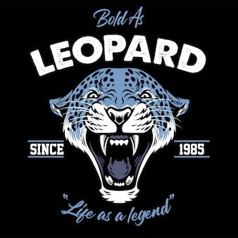 Винтажный дизайн головы леопарда