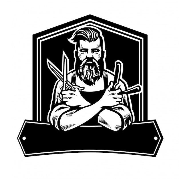 Барбермен с ножницами