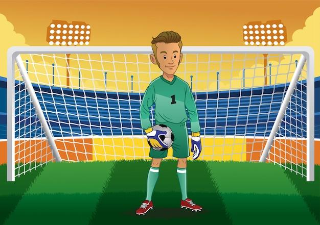 Мультяшный футбольный вратарь