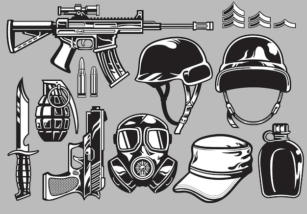 Набор военных объектов