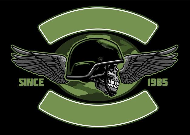 Дизайн рубашки военного дизайна черепа
