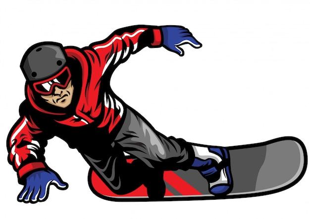 Сноубордист наслаждается своей игрой