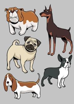 犬のベクトルコレクション