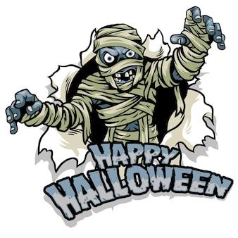 Дизайн мумии в стиле хэллоуина