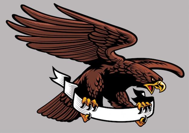 Орел держит ленту