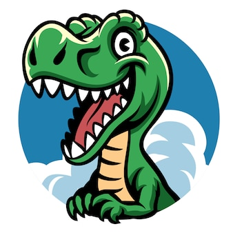 陽気なかわいい恐竜