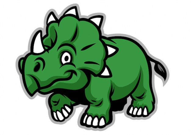 かわいいトリケラトプス恐竜
