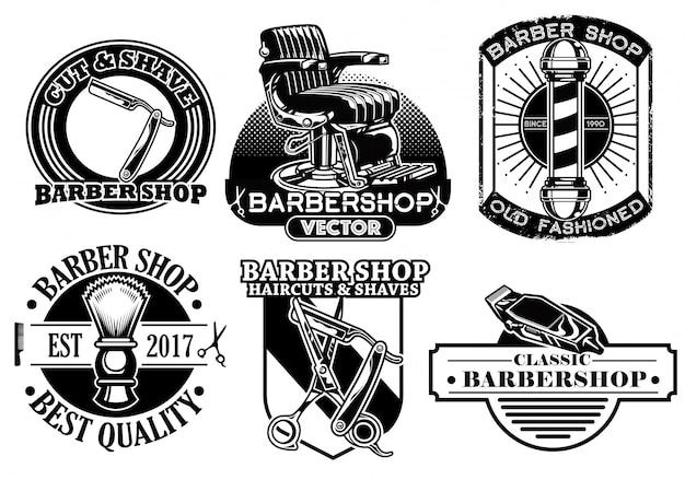 Коллекция парикмахерских значков