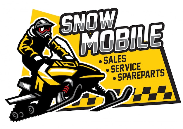 Логотип магазина снегоходов и гаража