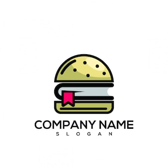 Книжный бургер с логотипом