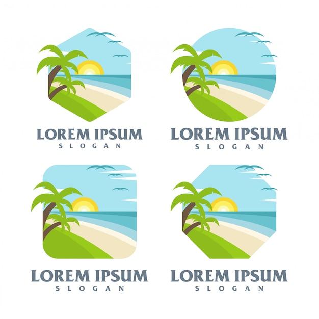 Пляжный логотип