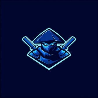 Ассасин ниндзя дизайн логотипа