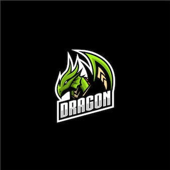 Логотип спорт дракон