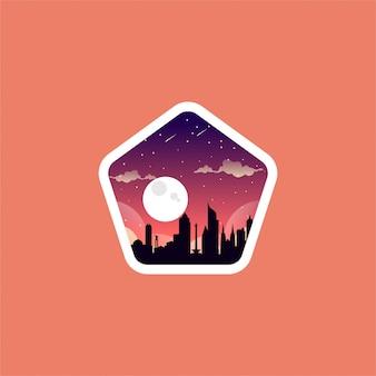 Дизайн логотипа ночной город