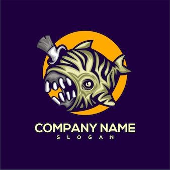 Логотип рыба монстр