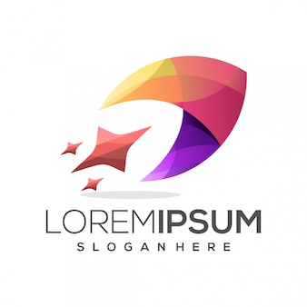 Красочный логотип ракеты