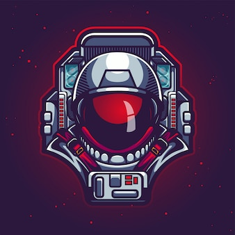 宇宙飛行士の頭の図