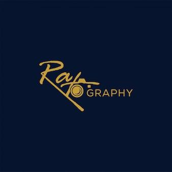 写真のロゴプレミアムベクトル